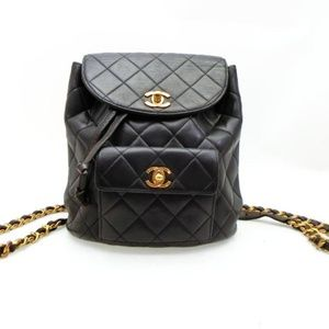 Chanel Classic Quilted Lambskin Chain Backpack